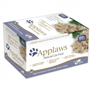 Applaws Pots Chicken Selection Multipack in Broth for Cats 8 x 60gm