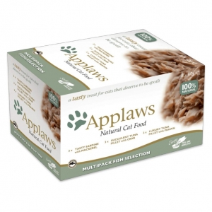 Applaws Pots Fish Selection Multipack in Broth for Cats 8 x 60gm