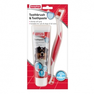 Beaphar Toothbrush and Toothpaste Set 2pk