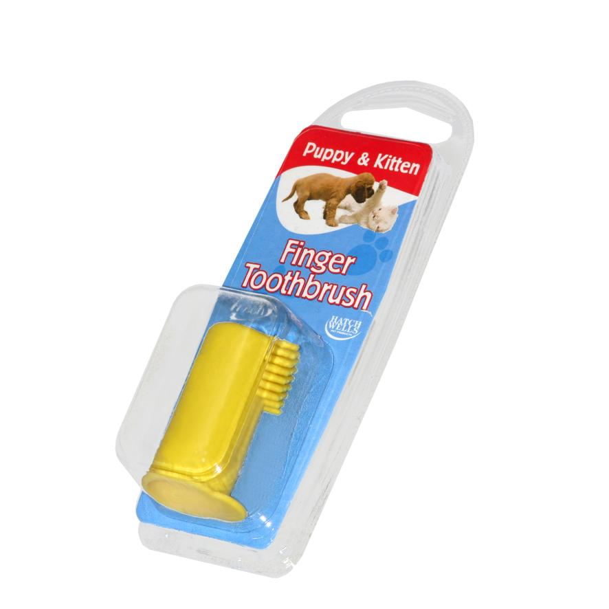 CLEARANCE Hatchwells Dentifresh Puppy and Kitten Finger Toothbrush (Colours Vary)