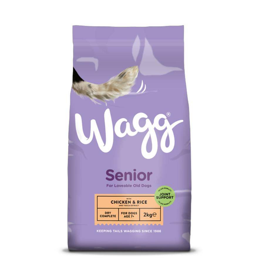 Wagg Senior Dog Food With Chicken And Rice Two Sizes