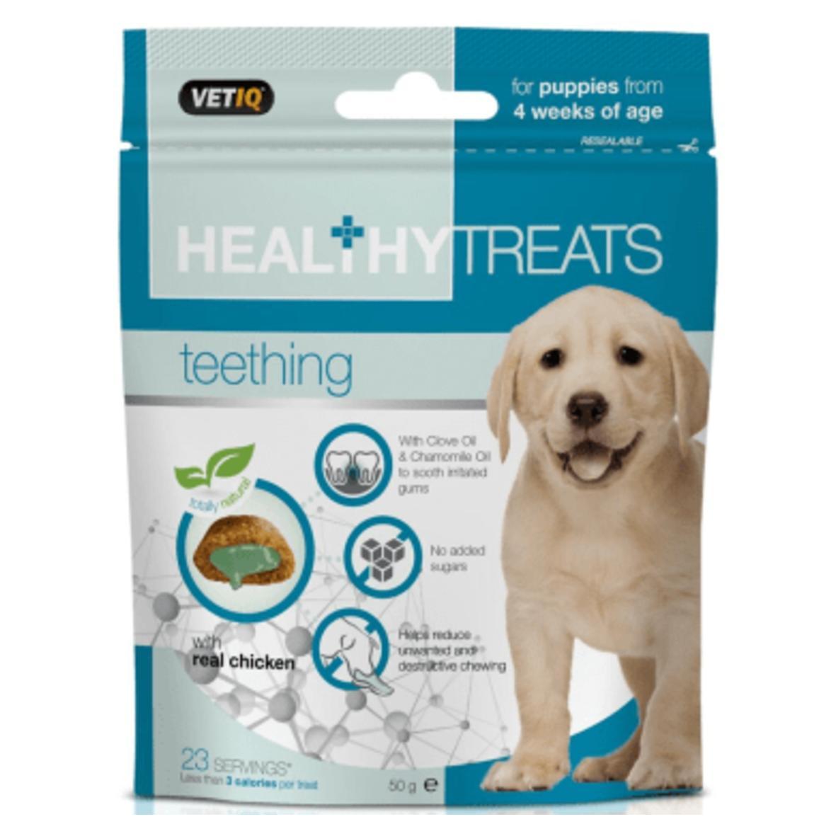 CLEARANCE VetIQ Healthy Treats Teething Treats for Puppies 50gm
