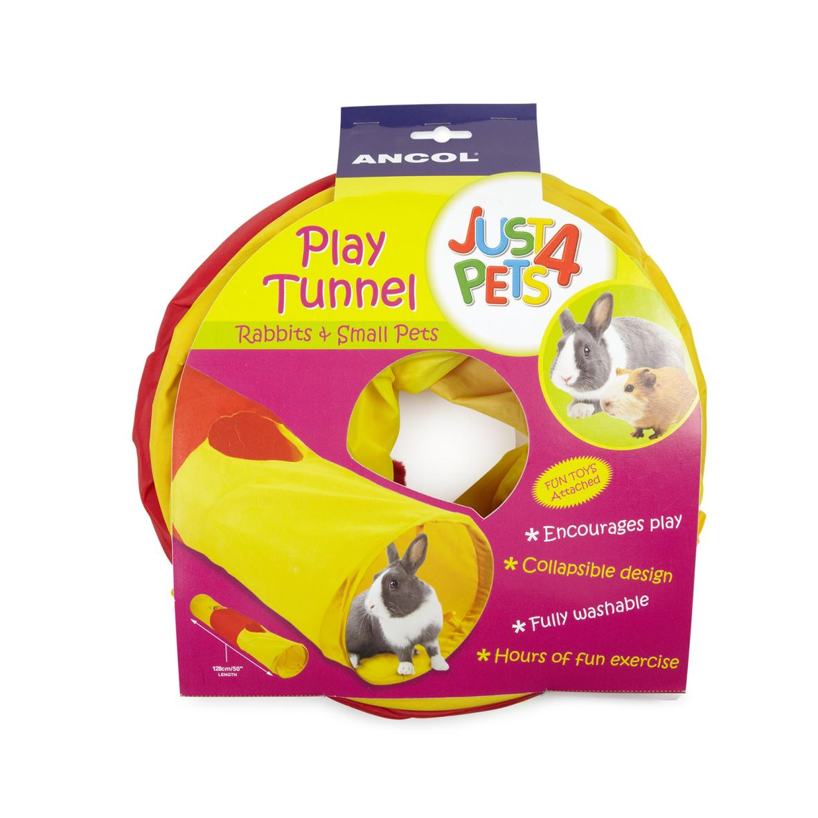 Ancol Just 4 Pets Play Tunnel 128cm