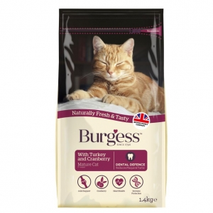 Burgess Mature Cat Food Turkey and Cranberry 1.4kg
