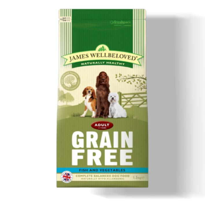 james wellbeloved grain free dog food with fish and