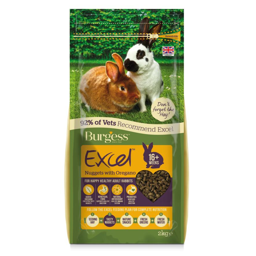 CLEARANCE Burgess Excel Rabbit Nuggets with Oregano 2kg