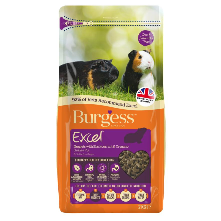 CLEARANCE Burgess Excel Guinea Pig Nuggets with Blackcurrant and Oregano 2kg