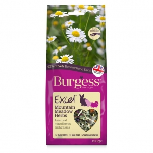 Burgess Excel Mountain Meadow Herbs 120gm