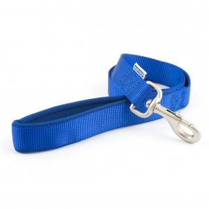 Ancol Heritage Padded Nylon Lead Blue LARGE 25mm