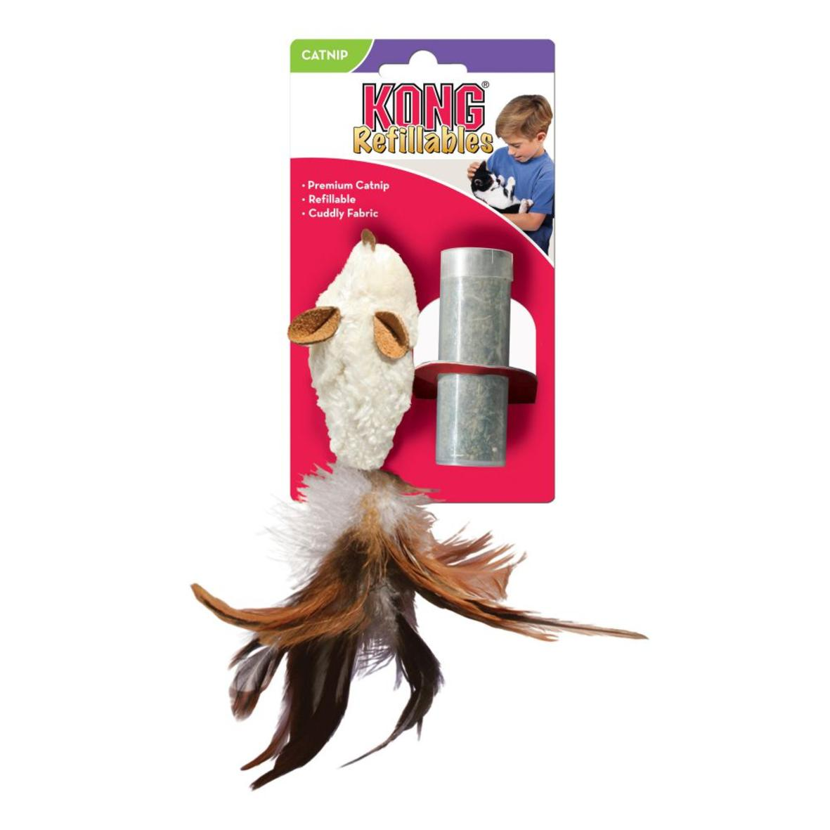 KONG Refillables Feather Mouse with Catnip