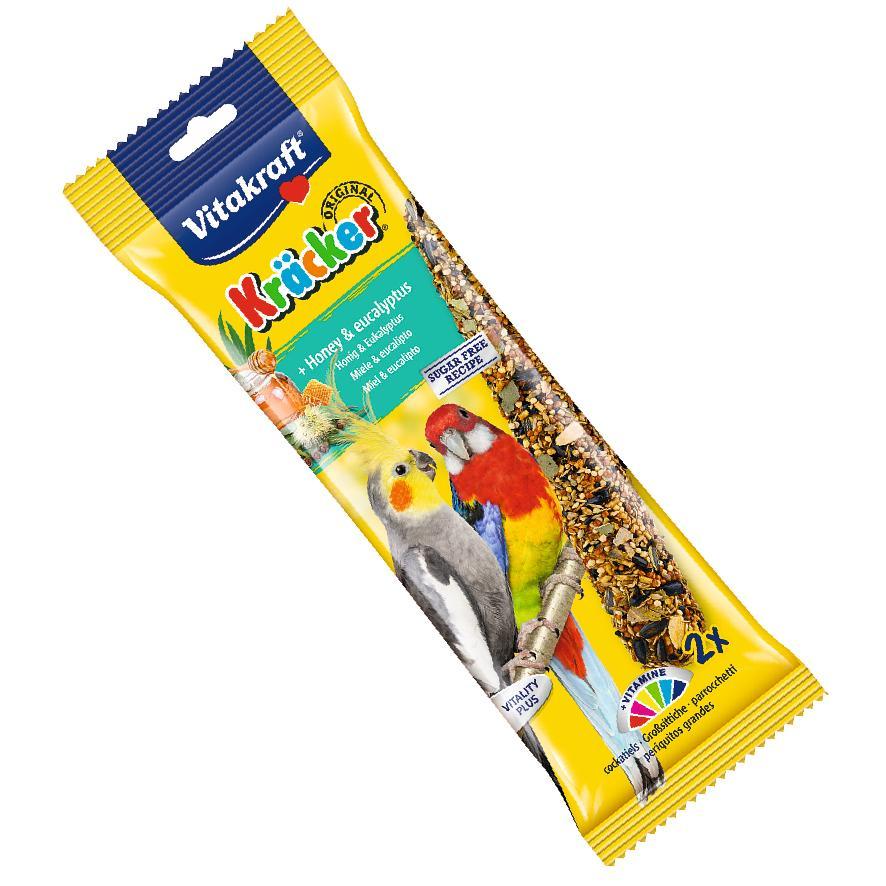 Vitakraft Cockatiel Kracker Sticks Honey and Eucalyptus 2pcs