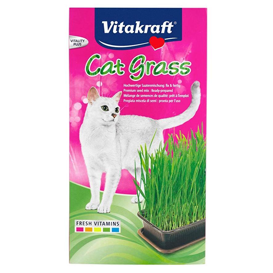 Vitakraft Cat Grass with Tray 120gm