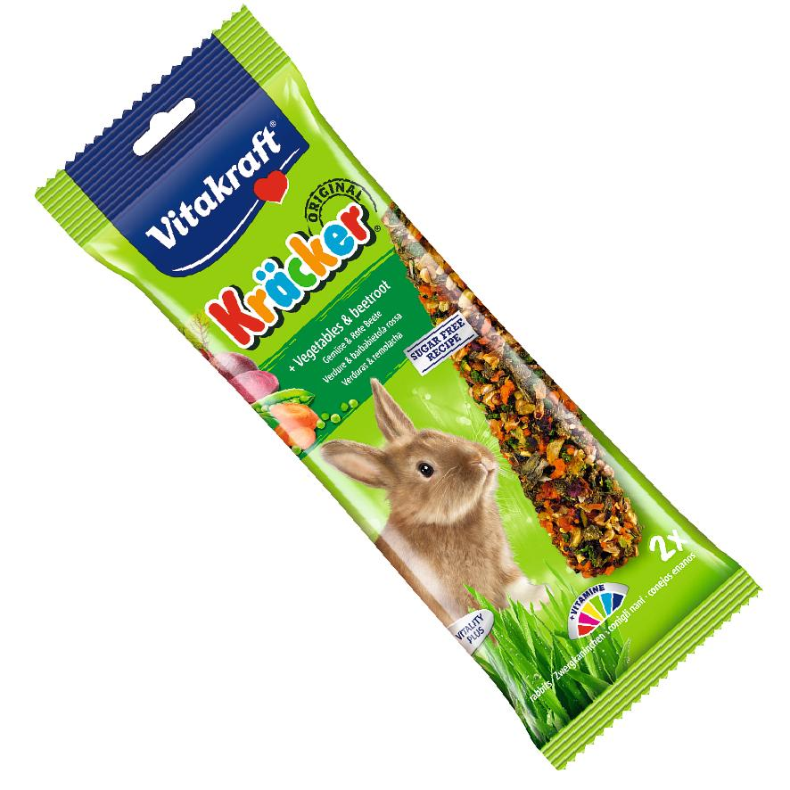 Vitakraft Rabbit Kracker Sticks Vegetables and Beetroot 2pcs