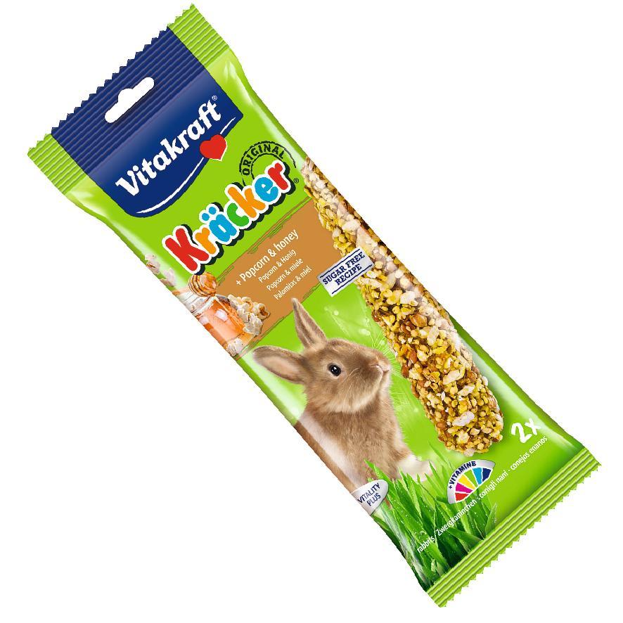 Vitakraft Rabbit Kracker Sticks Popcorn & Honey 2pcs