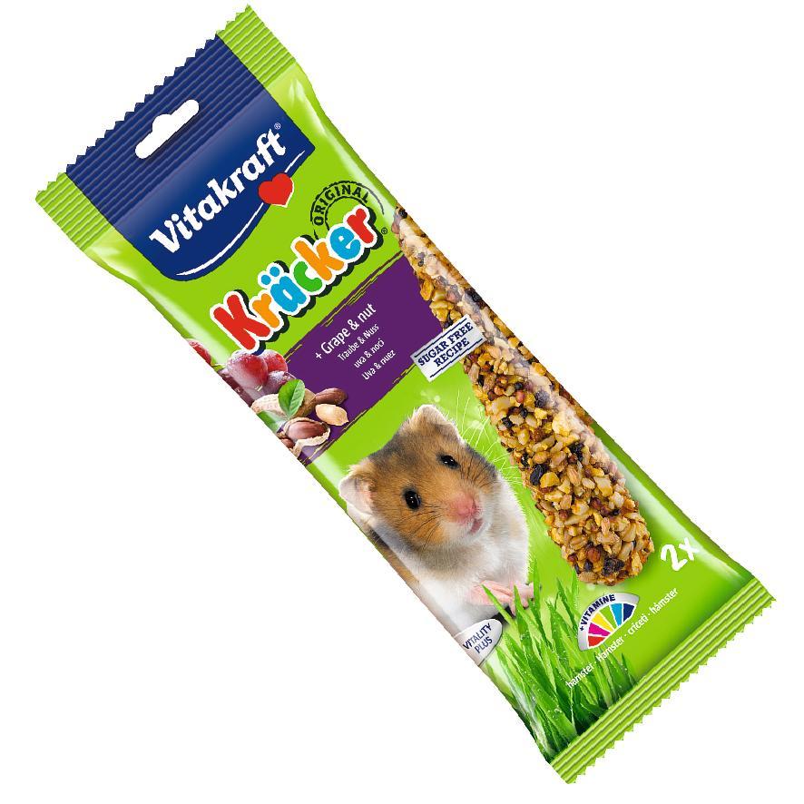 CLEARANCE Vitakraft Hamster Kracker with Grape and Nut 2pcs
