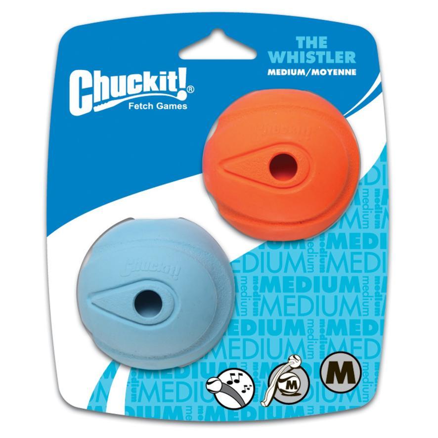 Chuckit! Whistler Ball Medium 2pk 6.5cm