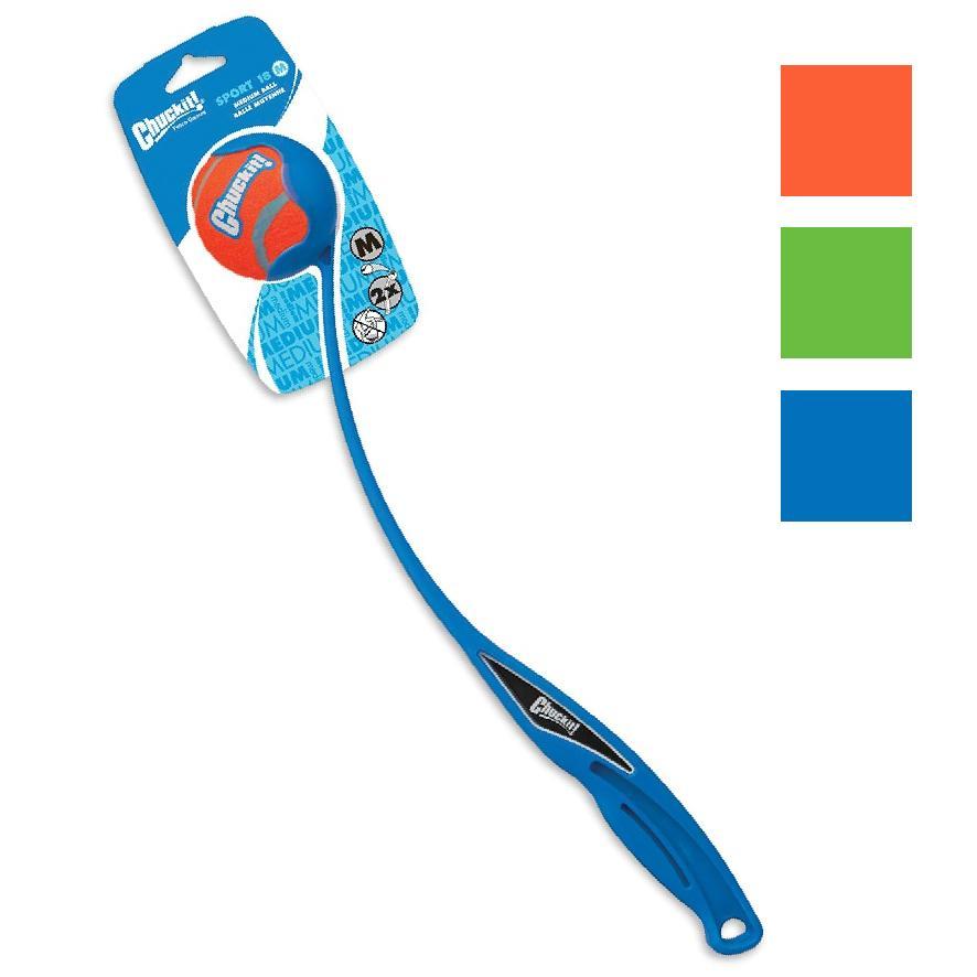 CLEARANCE Chuckit Sport Launcher 18M w/ Tennis Ball 46cm (Colours Vary)
