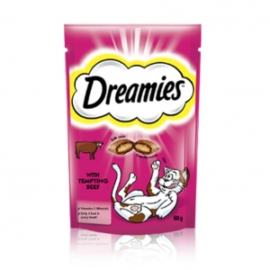 Dreamies Cat Treats with Beef 60gm
