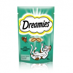 Dreamies Cat Treats with Turkey 60gm