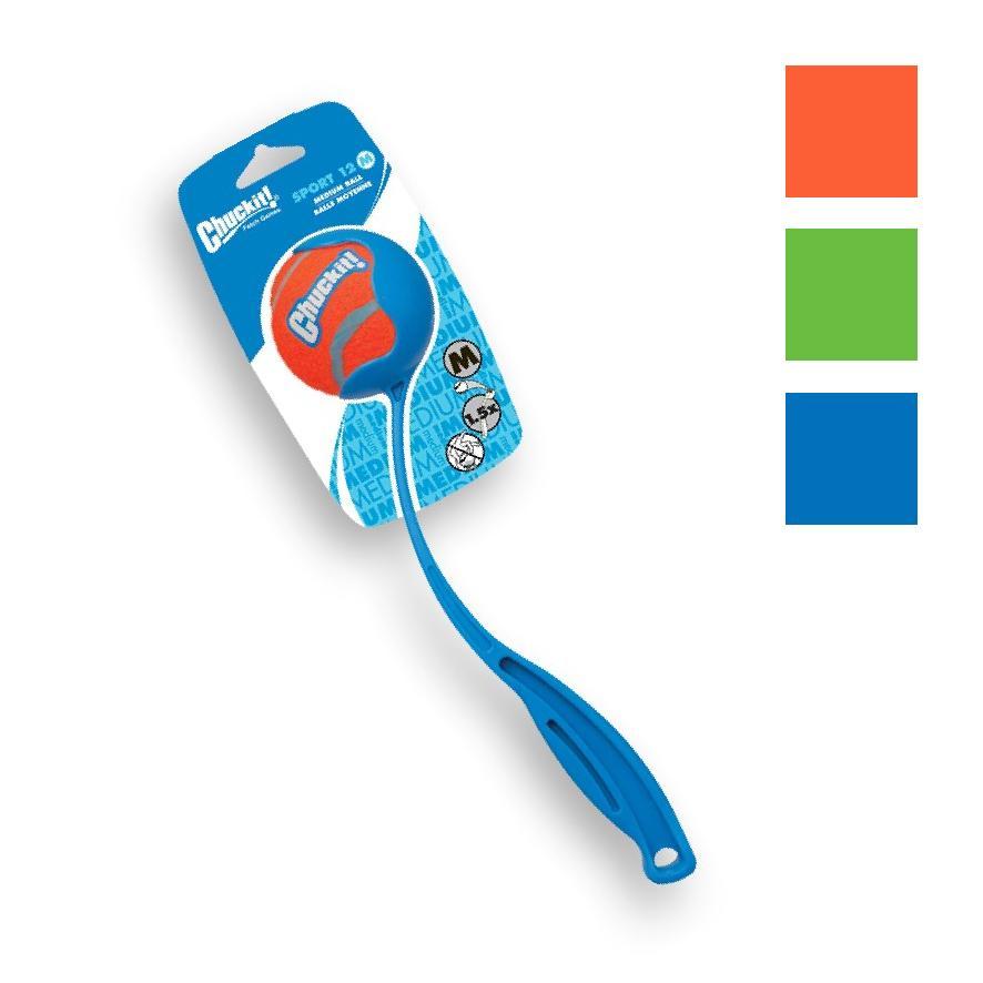 CLEARANCE Chuckit! Sport Launcher 12M w/ Tennis Ball 30cm (Colours Vary)