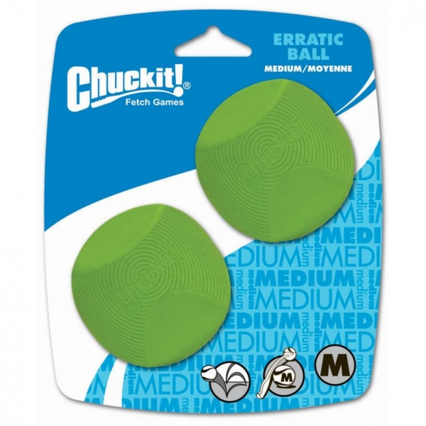 Chuckit! Erratic Ball Medium 6.5cm 2-pack