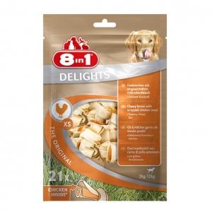8 in 1 Delights Bones Chicken Extra Small VALUE BAG 21pcs