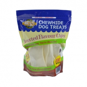 Bravo Rawhide Chips Assorted 227gm