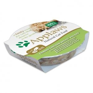Applaws Pots Chicken Breast with Rice in Broth for Cats 10 x 60gm