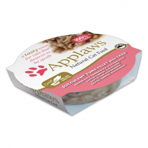 Applaws Pots Tuna Fillet with Crab in Broth for Cats 10 x 60gm