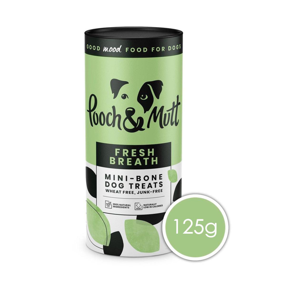Pooch & Mutt Fresh Breath Mini Bone Treats 125gm