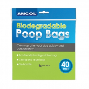 Ancol Biodegradable Poop Bags 40pcs
