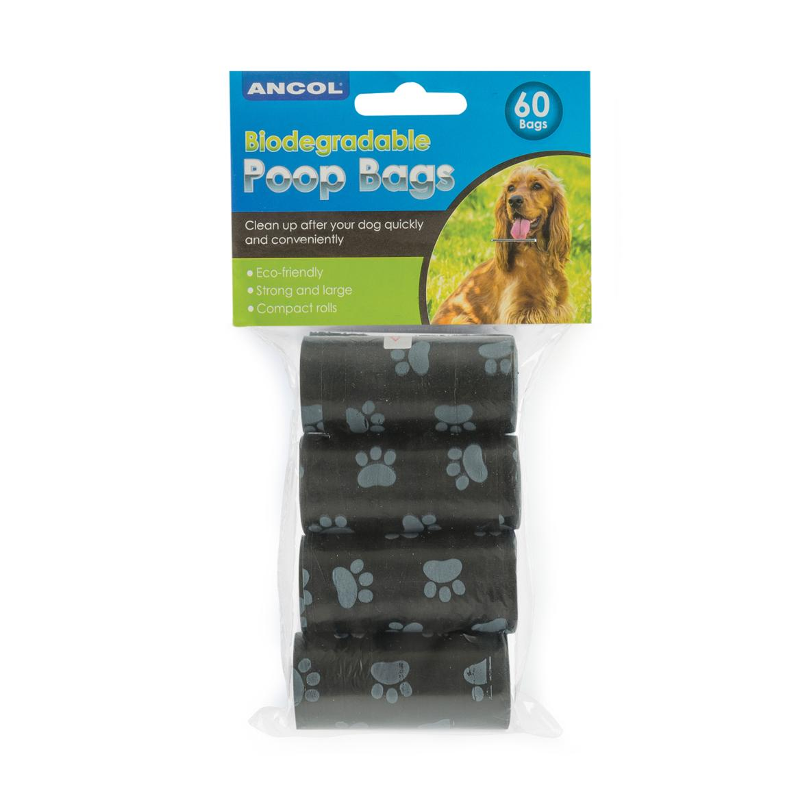 CLEARANCE ANCOL Biodegradable Poo Bag Rolls 60pcs