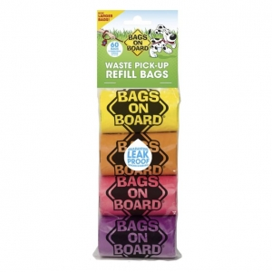 Bags on Board Poo Bag Rolls Rainbow 60pcs