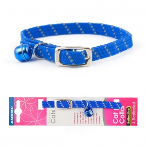 Ancol Softweave Reflective Cat Collar Blue