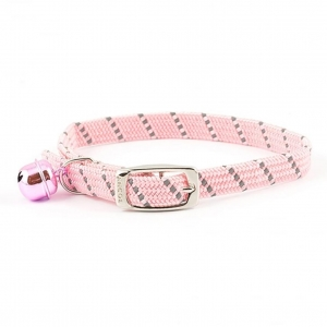 Ancol Softweave Reflective Cat Collar Pink