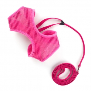 Ancol Mesh Cat Harness & Lead Pink