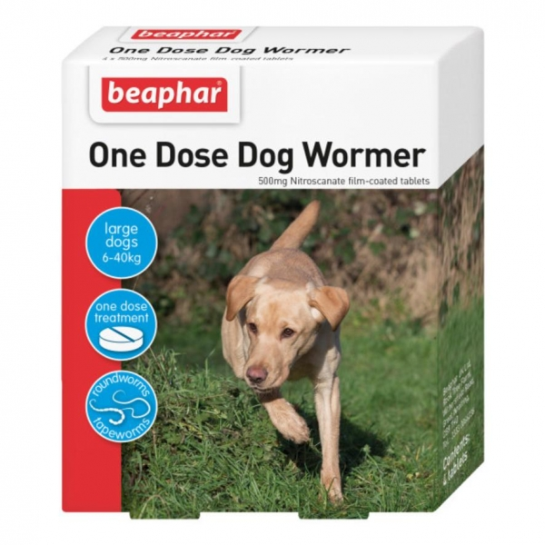 Beaphar One Dose Wormer for Dogs 4-pk