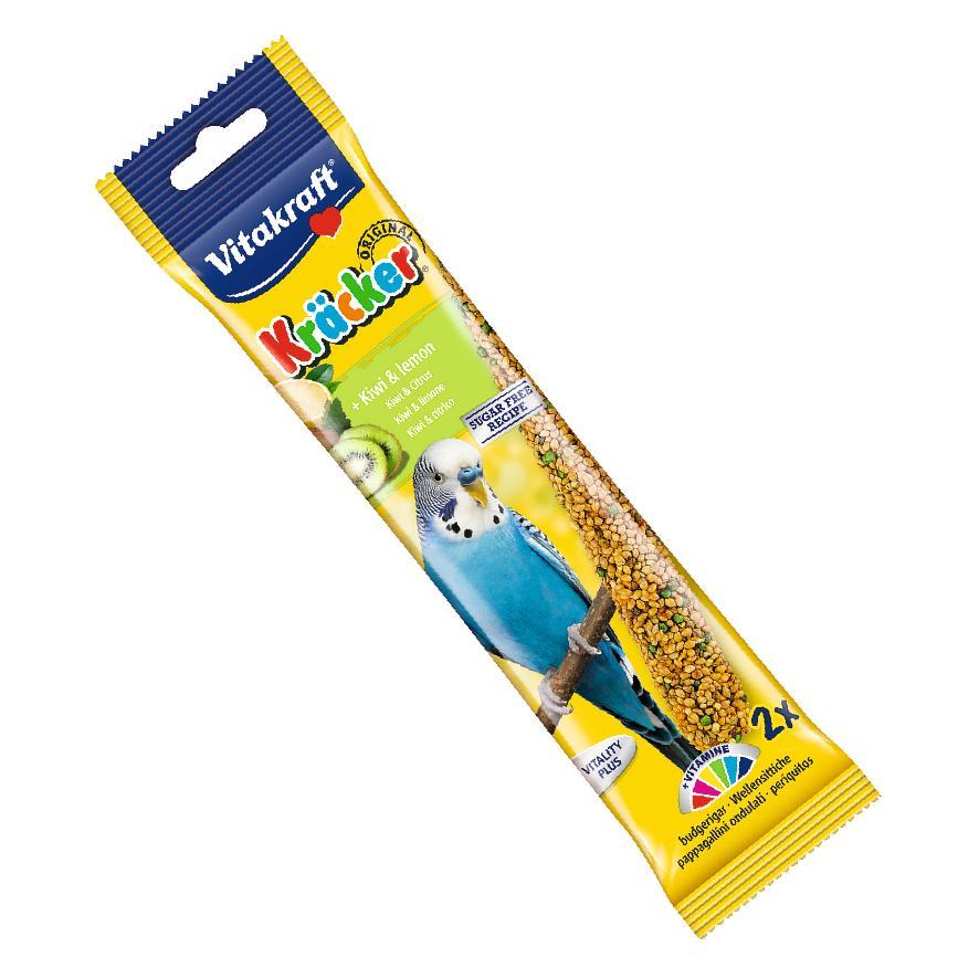 CLEARANCE Vitakraft Budgie Kracker Sticks Kiwi and Lemon 2pcs