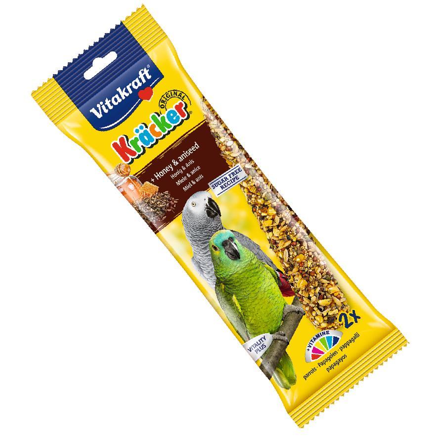 Vitakraft Parrot Kracker Sticks Honey & Aniseed 2pcs