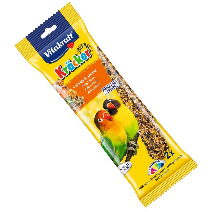 CLEARANCE Vitakraft Small Parrot Kracker Sticks Honey and Sesame 2pcs