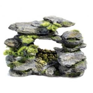Classic Aquatics Rocky Arch with Bonsai and Air