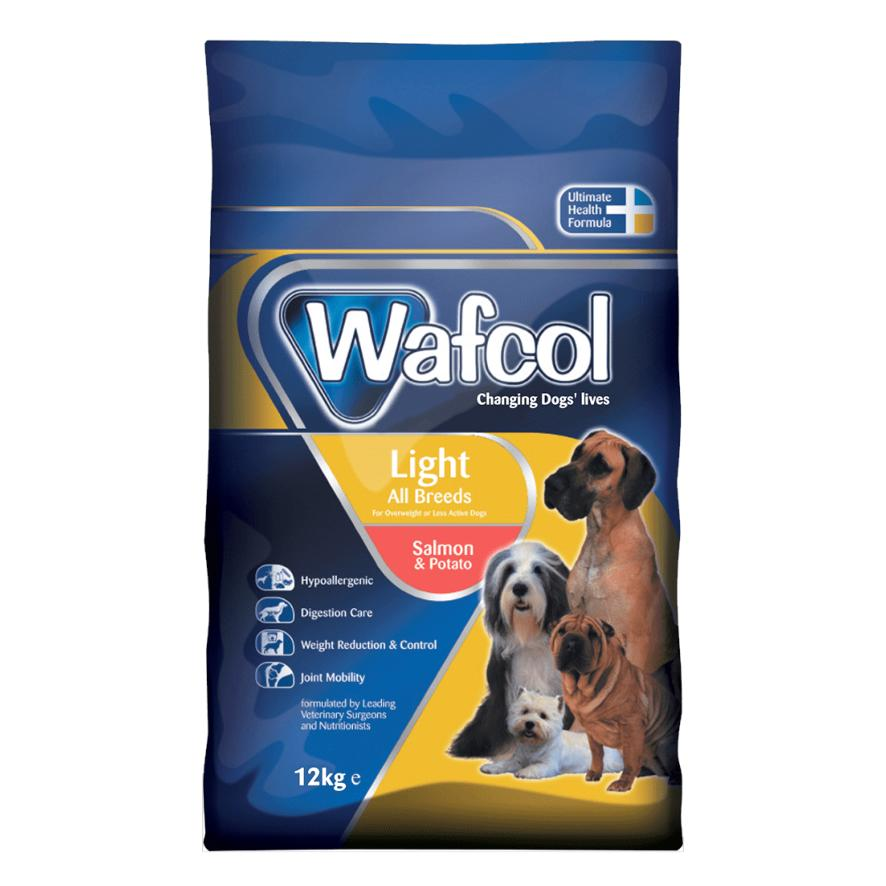 Wafcol Light Dog Food With Salmon And Potato Grain Freetwo Sizes