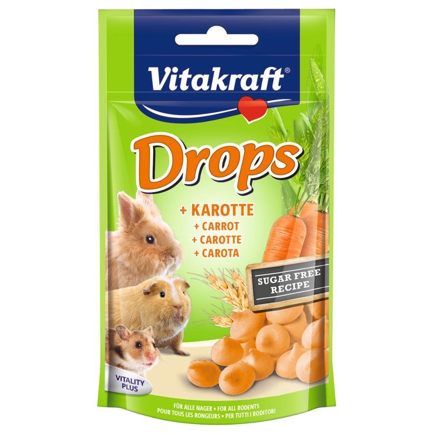 Vitakraft Carrot Drops 75gm