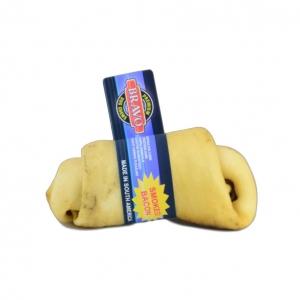 Bravo Rawhide Knotted Bone Smoked Bacon 10-12cm