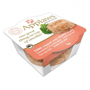 Applaws Layers Tuna with Prawn in Jelly for Cats 12 x 70gm