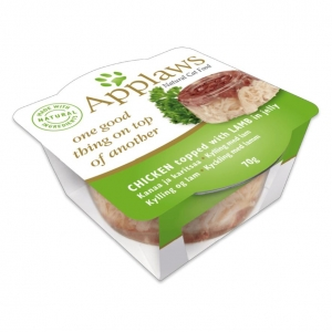 Applaws Layers Chicken with Lamb in Jelly for Cats 12 x 70gm