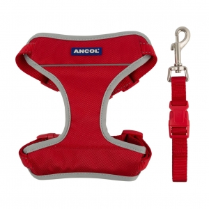 Ancol Travel & Exercise Harness Red
