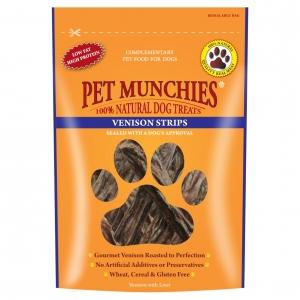 Pet Munchies Venison Strips 75gm