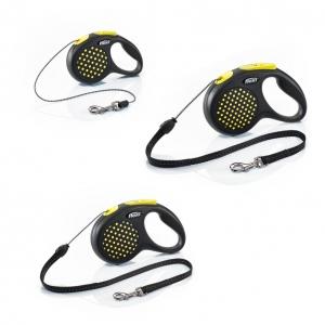 Flexi Design Cord Leash Yellow (All Sizes)
