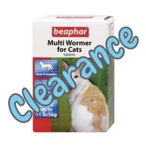 (E) BEAPHAR Multi Wormer Tablets for Cats 12pk [BB 05-11-21]